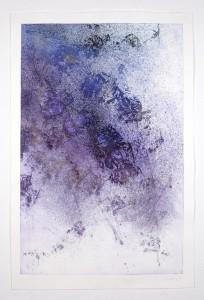 Alessandra Angelini Star Serenade -  Forte, 2008 Impressione di lastra fotopolimerica   a rilievo esposta alla luce solare. Lavorazione diretta. Stampata dall'artista su carta di cotone Hahnemuhle 300 g. Lastra cm 90 x cm 60